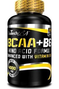 BCAA + B6, 200 таблеток Biotech